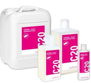 C 20 Hände + Haut Desinfektion - Parfüm- und farbstofffrei - Gebrauchsfertig