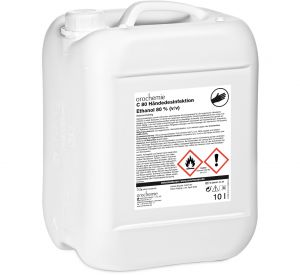 C 80 Händedesinfektion 80% Ethanol (v/v) - wirksam gegen Coronaviren - Gebrauchsfertig